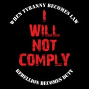 I Will Not Comply (Black)
