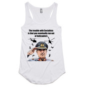 Pinochet - Helicopters - AS Colour - Dash Singlet Racer Back