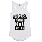 Straight Outta Austria - AS Colour - Dash Singlet Racer Back