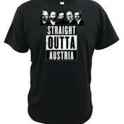 Straight Outta Austria - Quoz - Mens Wave Tee