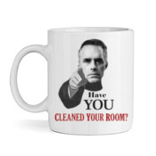Jordan Peterson - Clean Your Room - High quality ceramic white mug